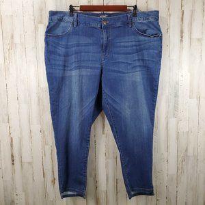 Terra & Sky Womens Jeans 22W Blue Skinny Ankle